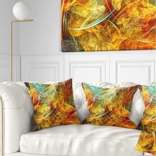 Designart 'Yellow Swirling Clouds' Abstract Throw Pillow