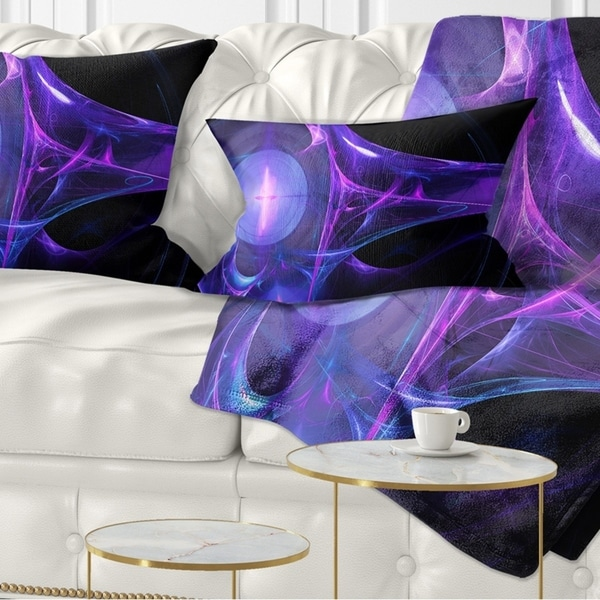 Designart 'Purple Bright Candle' Abstract Throw Pillow