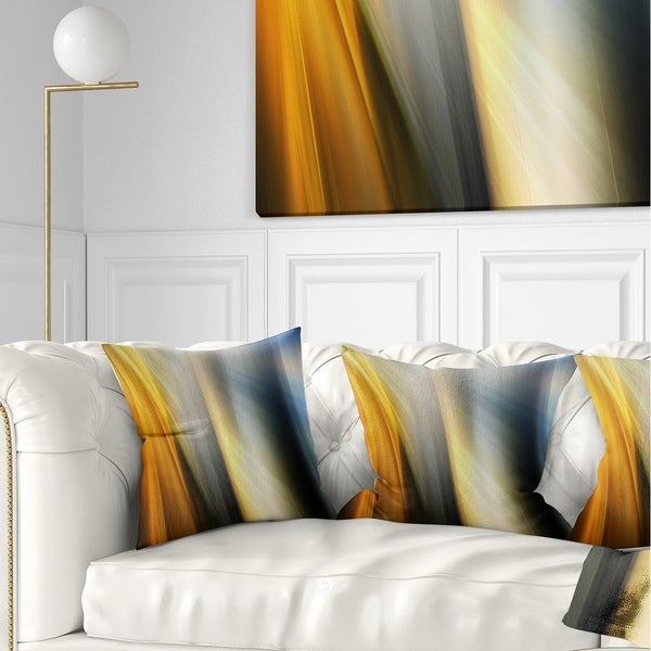 Designart 'Rays of Speed Vertical' Abstract Throw Pillow