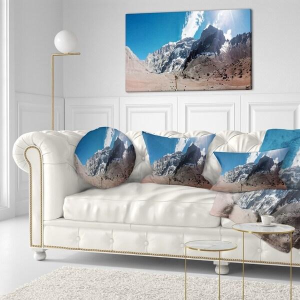 Designart 'Trekking to Plaza Francia Panorama' Landscape Printed Throw Pillow