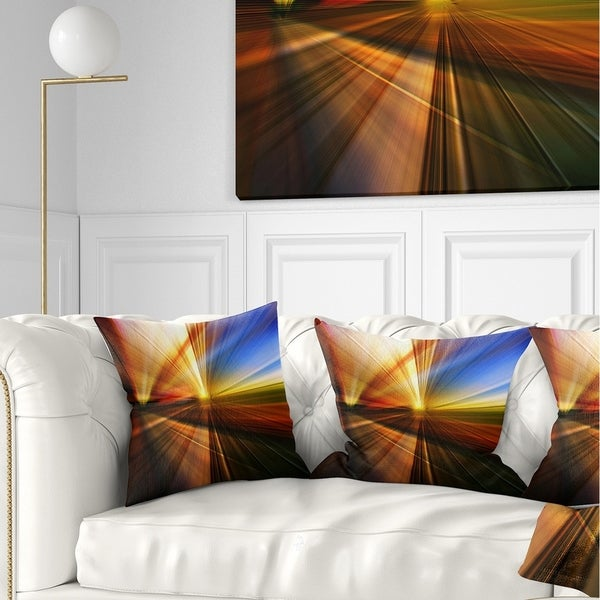 Designart 'Rays of Speed Reflection' Abstract Throw Pillow