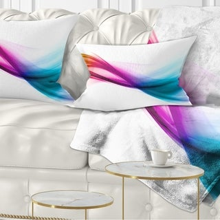 Designart 'Rainbow Shade Waves' Abstract Throw Pillow
