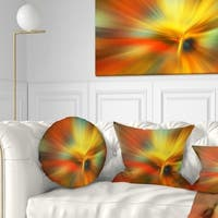 Designart 'Yellow Focus Color' Abstract Throw Pillow