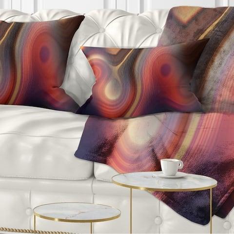 Designart 'Beautiful Texture of Colors' Abstract Throw Pillow
