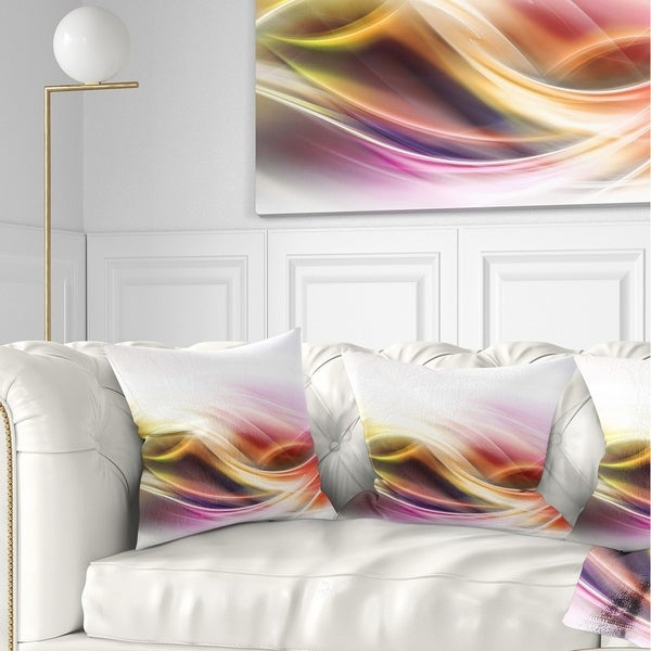 Designart 'Elegant Light Color Pattern' Abstract Throw Pillow