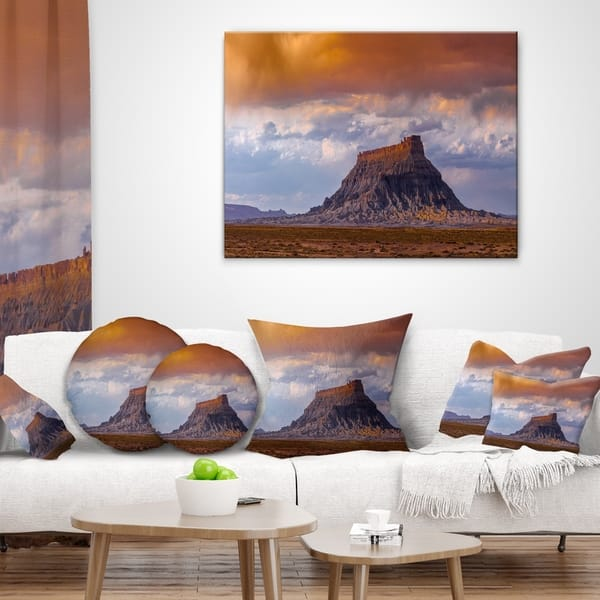 Designart Factory Buttle Utah Panorama Landscape Printed Throw Pillow On Sale Overstock 20945217