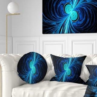 Designart 'Blue Fractal' Abstract Throw Pillow