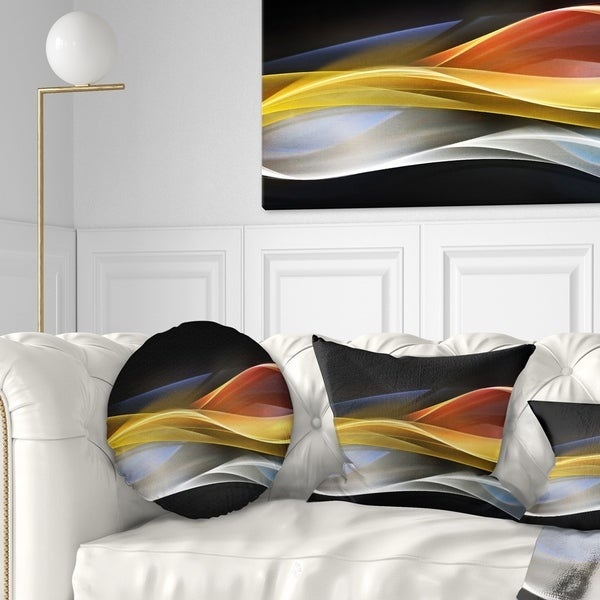 Home Design 3d Gold: Shop Designart '3D Gold Silver Wave Design' Abstract Throw