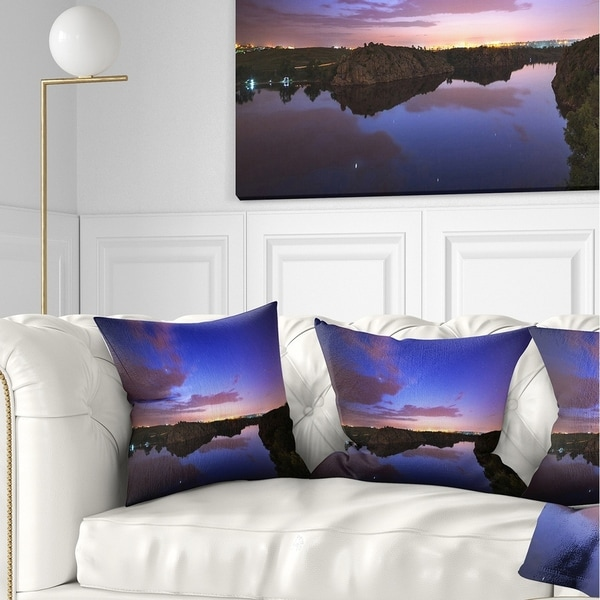 Designart 'Stars and Clouds Reflection' Landscape Photography Throw Pillow