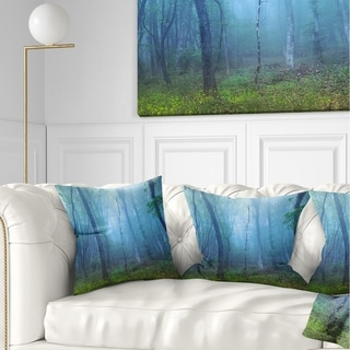 Design Artdesignart Dark Foggy Forest Trees Landscape Photography Throw Pillow Square 26 In X 26 In Large Dailymail