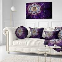 Designart 'Blue and Pink Large Fractal Flower' Floral Throw Pillow
