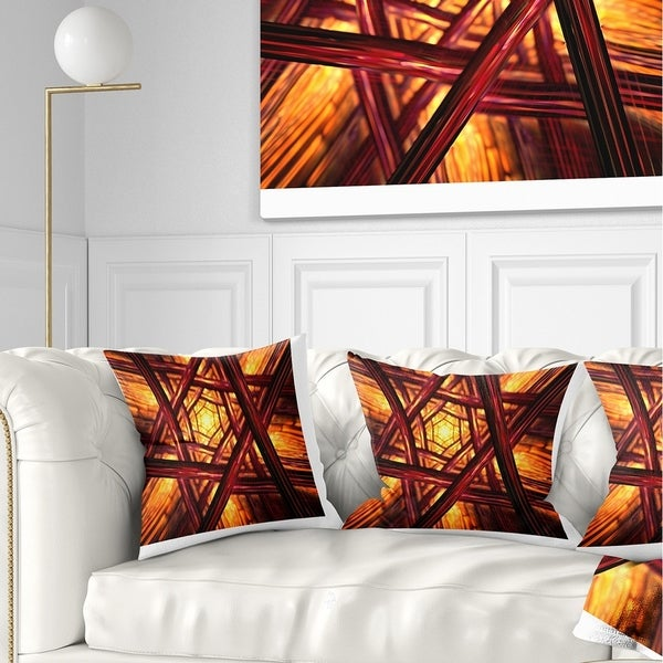 Designart 'Fractal Mandala Design' Abstract Throw Pillow