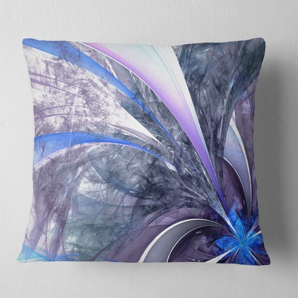 Fantastic Designart Bright Blue Fractal Flower Design Floral Throw Pillow Unemploymentrelief Wooden Chair Designs For Living Room Unemploymentrelieforg