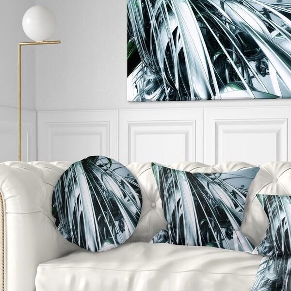 Designart '3D Abstract Art Green Black' Abstract Throw Pillow