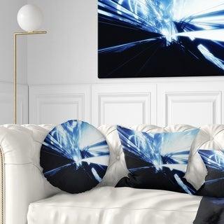 Designart '3D Abstract Art Blue Black' Abstract Throw Pillow