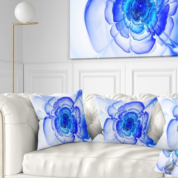 Cool Designart Large Blue Fractal Flower Petals Floral Throw Pillow Ocoug Best Dining Table And Chair Ideas Images Ocougorg