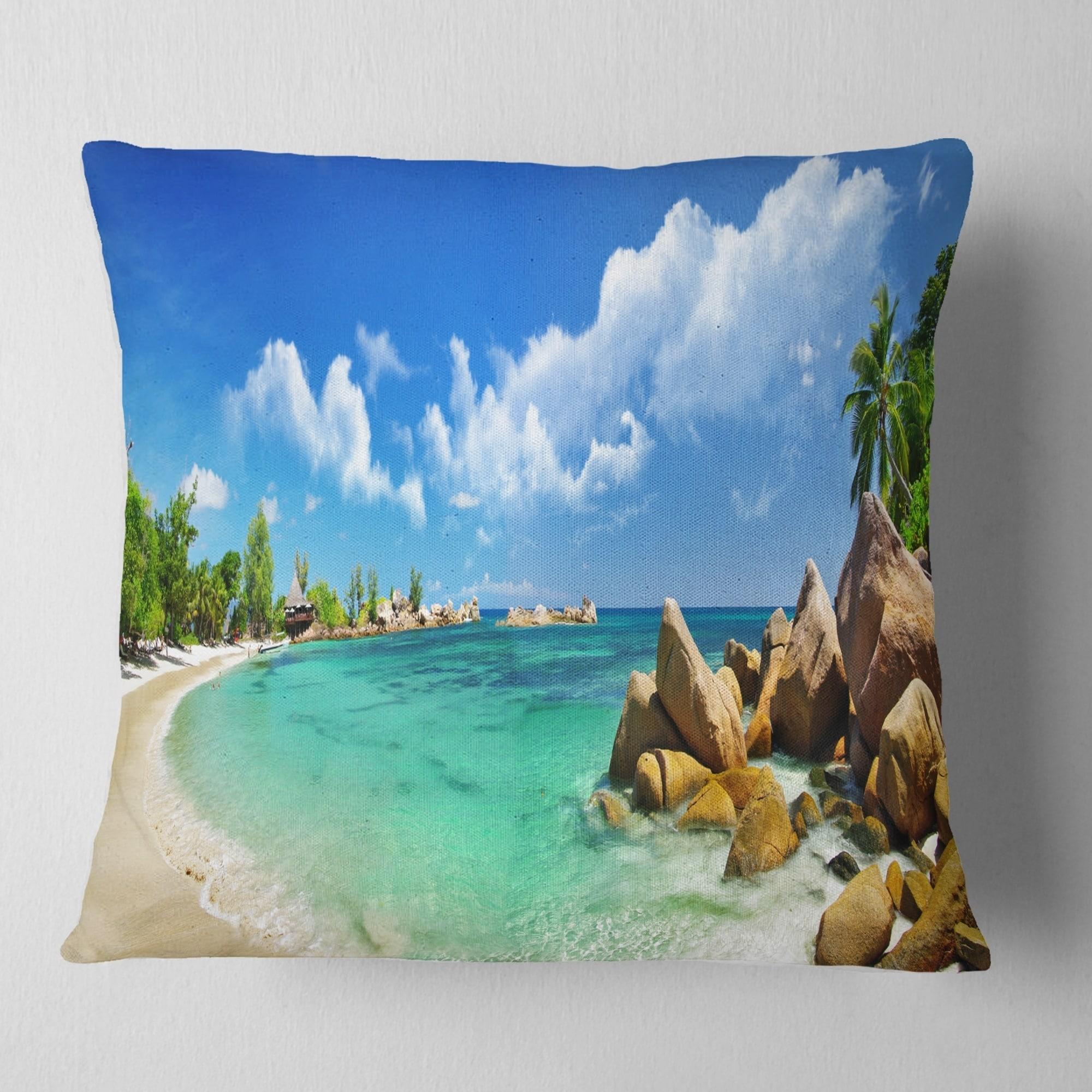 Designart Seychelles Islands Panorama Landscape Photography Throw Pillow On Sale Overstock 20945991