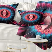Designart 'Abstract Colorful Fractal Flower' Floral Throw Pillow