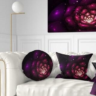 Designart 'Abstract Fractal Violet Flower' Floral Throw Pillow