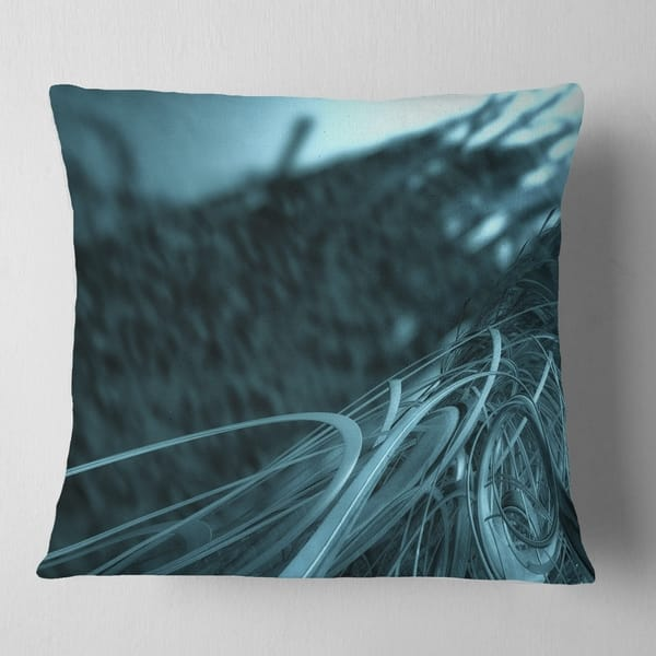 Designart \'Fractal 3D Bottom Stripes\' Contemporary Throw Pillow