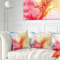 Designart Retro Tree Roots Watercolor Trees Painting Throw Pillow On Sale Overstock 20945848