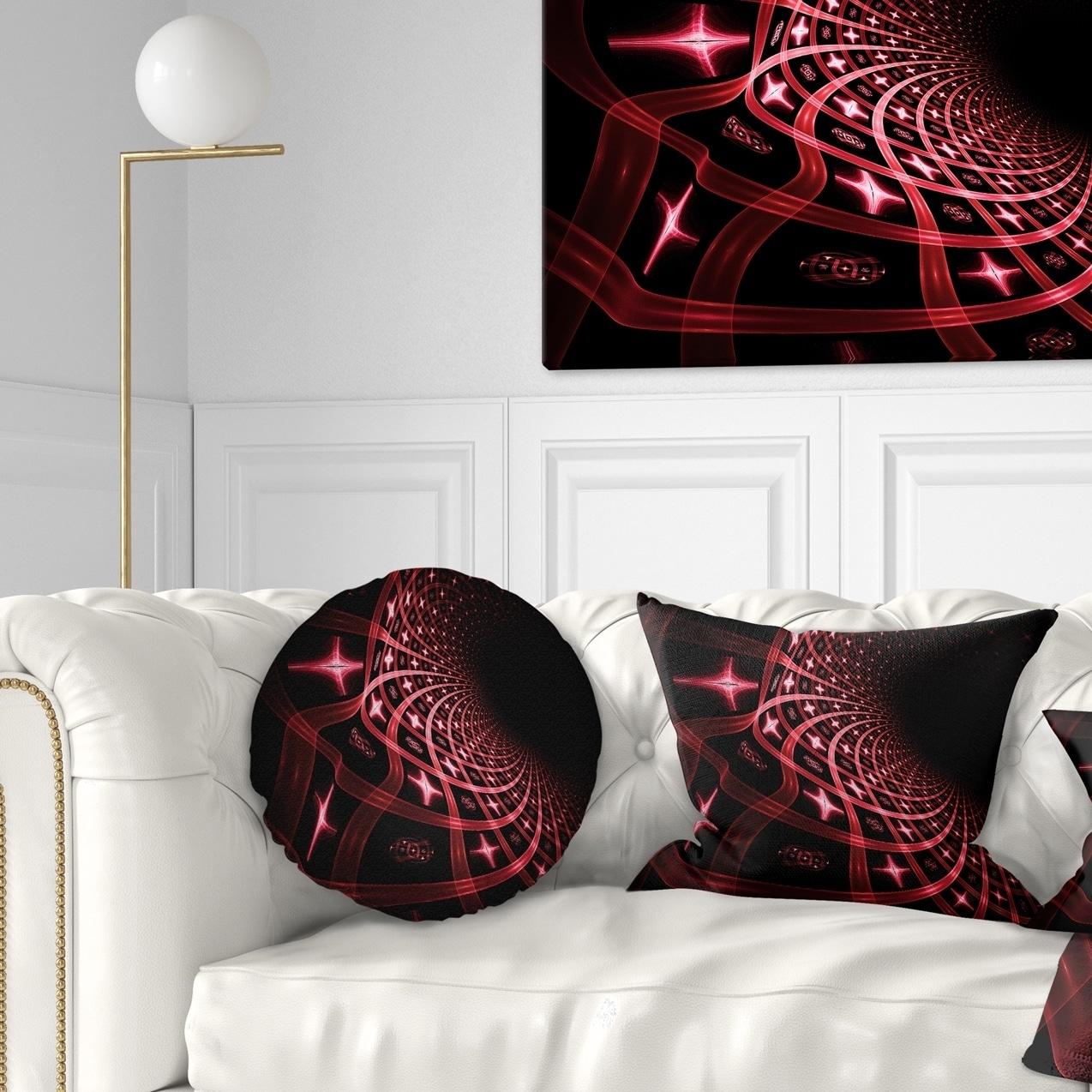 Designart \'Fractal Purple Dense Stripes\' Contemporary Throw Pillow ...