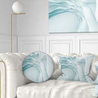 Designart 'Fractal Large Blue 3D Waves' Contemporary Throw Pillow