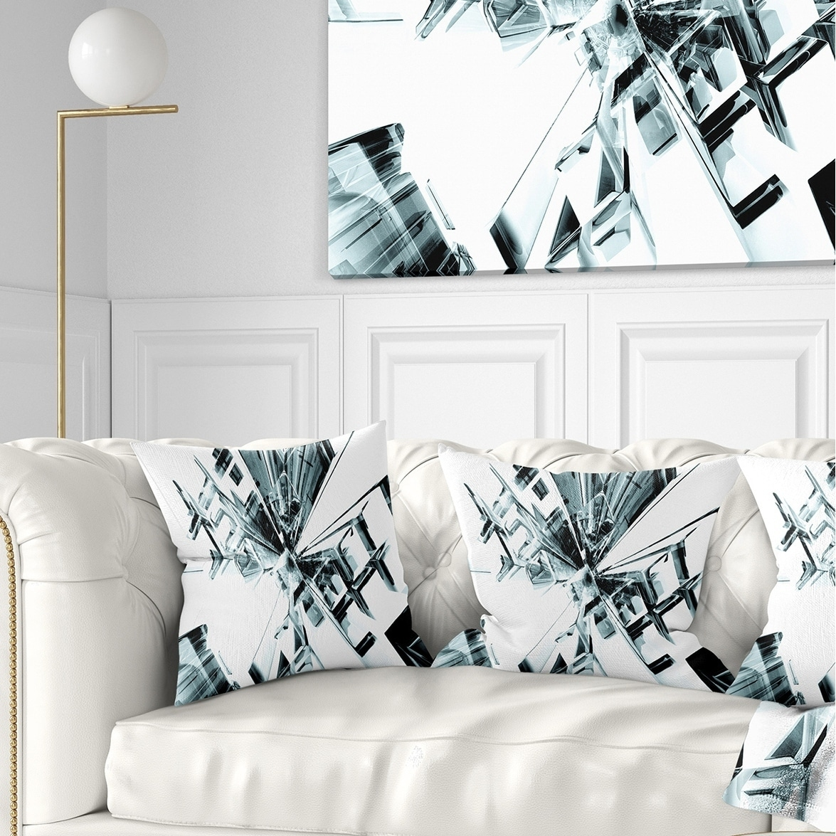 Designart Fractal 3d Cubes Everywhere Contemporary Throw Pillow Overstock 20946569