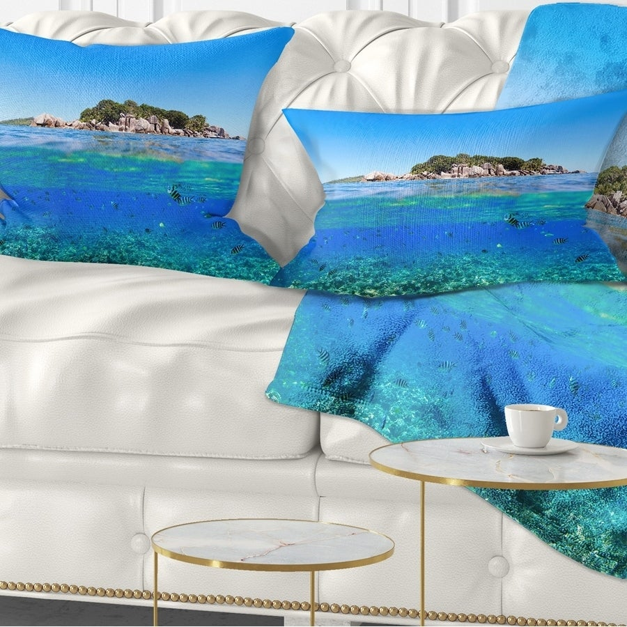 Designart Under And Above The Waters Seascape Throw Pillow On Sale Overstock 20946701