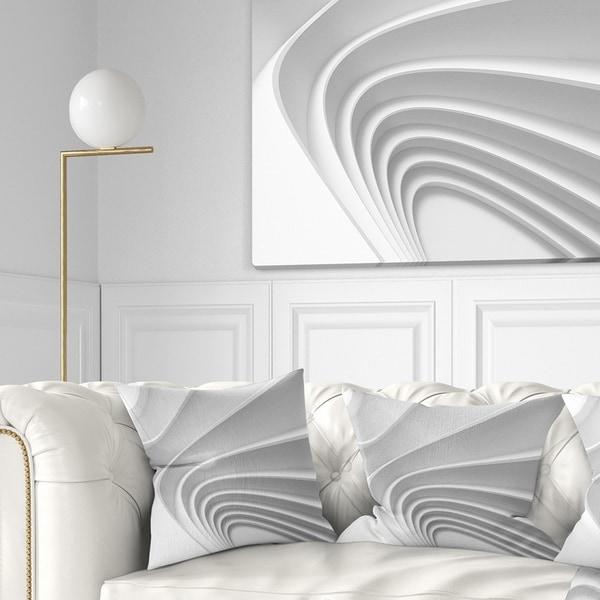 Designart 'Fractal Bulgy Layered 3D Waves' Contemporary Throw Pillow