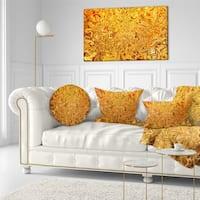 Designart 'Textured Flowing Yellow' Contemporary Throw Pillow