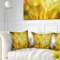 Designart 'Soft Yellow Dandelion Flowers' Floral Throw Pillow