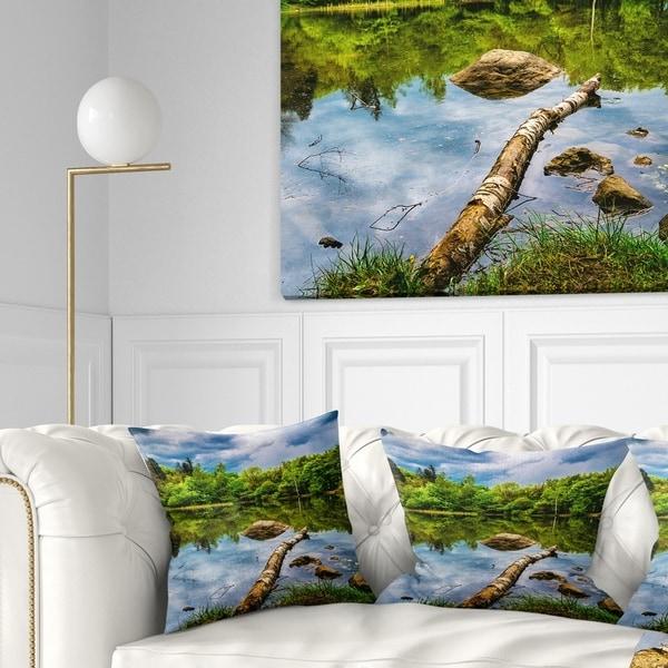 Designart 'Boyana Lake in Sofia Bulgaria' Landscape Printed Throw Pillow