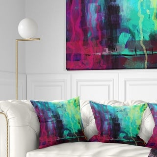 Designart 'Abstract Digital Painting' Abstract Throw Pillow