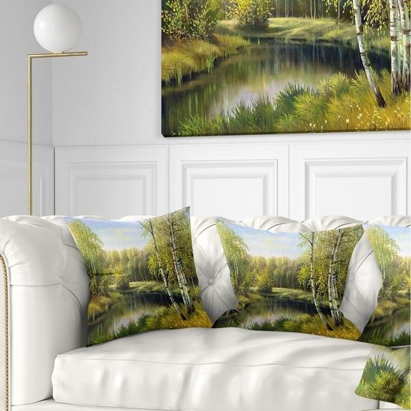 Designart Quiet Autumn River Landscape Fleece Throw Blanket On Sale Overstock 20909927 71 In X 59 In