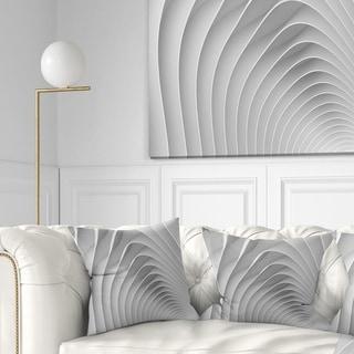 Designart 'Fractal Bulgy White 3D Waves' Contemporary Throw Pillow