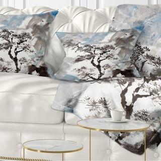 Designart 'Chinese Pine Tree' Trees Throw Pillow