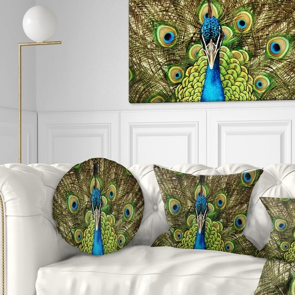 7 Top Tips For Throwing A Grand Party In A Small Home: Shop Designart 'Grand Peacock' Animal Throw Pillow