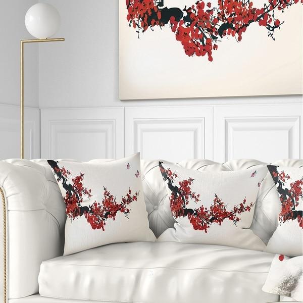 Shop Designart Floral Winter Sweet Floral Throw Pillow