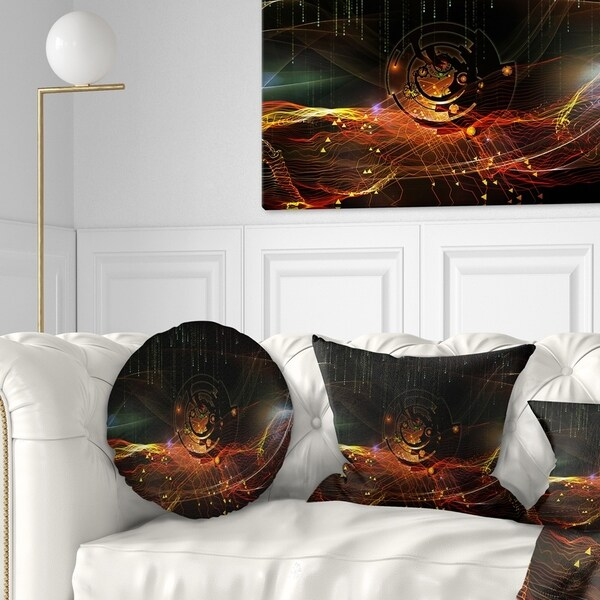 Designart 'Composition of Elements' Contemporary Throw Pillow