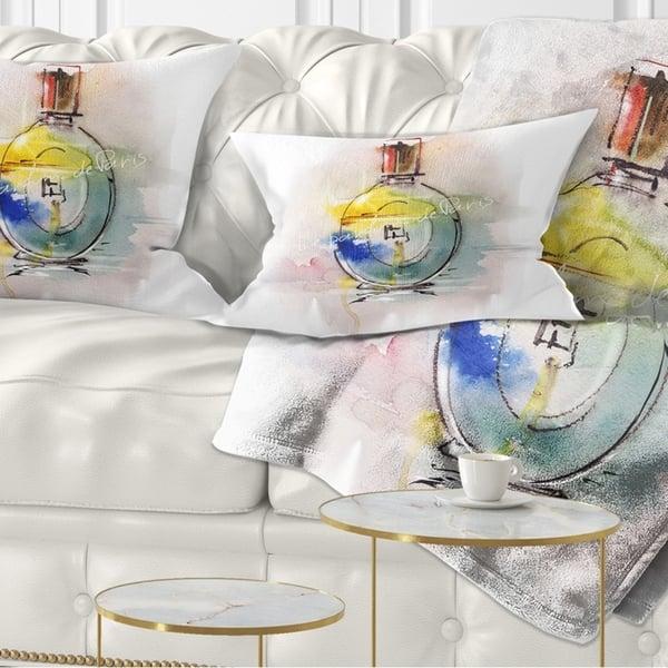 Designart Perfume Bottle Contemporary Throw Pillow On Sale Overstock 20947761
