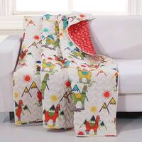 Barefoot Bungalow Cuzco Llama Quilted Throw
