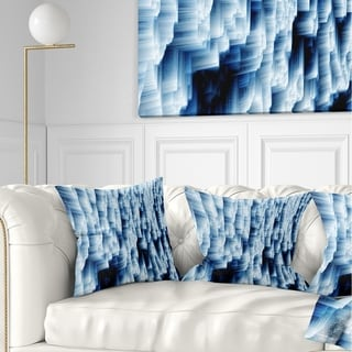 Shop Designart 'Abstract Blue Ice' Photography Metal Wall Art - On