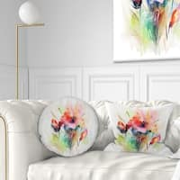 Designart 'Floral Watercolor Illustration' Abstract Floral Throw Pillow