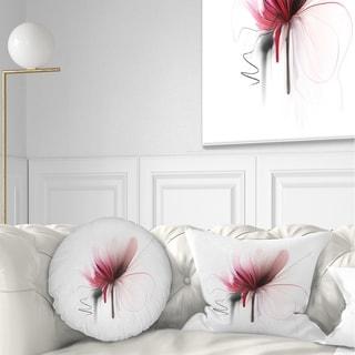 Designart 'Abstract Flower' Floral Throw Pillow
