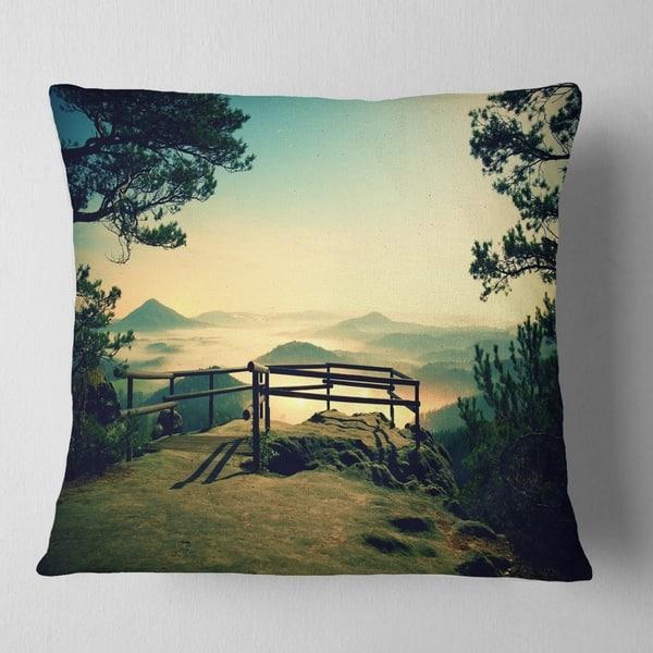 Designart Full Moon Autumn Midnight Landscape Photo Throw Pillow On Sale Overstock 20947848