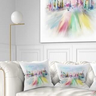 Designart 'Silhouette of Big City' Cityscape Throw Pillow