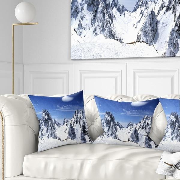 Designart 'Panorama Caucasus Mountains' Photography Throw Pillow