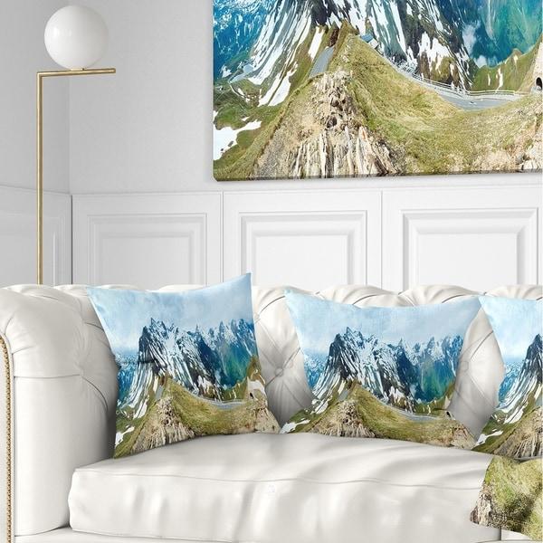 Designart 'Alps Summer Panorama' Photography Throw Pillow