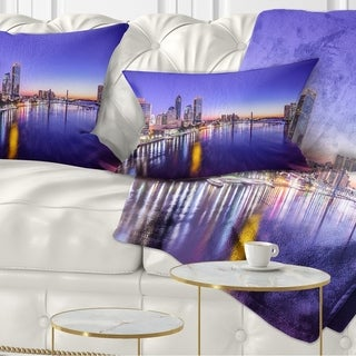 Designart 'Jacksonville Florida City Cityscape' Photography Throw Pillow (More options available)
